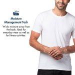Lapasa Lot DE 2 T-Shirt Homme en Micro Modal/Microfibre Manches Courtes – Ultra Doux et Confortable Sensation Second Peau de la marque Lapasa image 3 produit