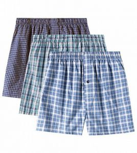 Lapasa Lot de 3 Caleçons à Carreaux Homme 100% Coton Premium Ultra Doux et Confortable de la marque Lapasa image 0 produit