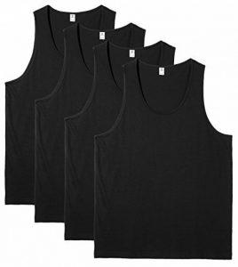Lapasa Lot DE 4 Débardeur de Sport Homme Haut Top T-Shirt Maillot Sans Manche 100% Coton Pur Doux Premium Musculation Basketball de la marque Lapasa image 0 produit