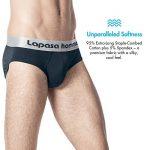 Lapasa Lot de 4 Slip Homme Uni en Coton Premium Ultra doux et confortable de la marque Lapasa image 3 produit