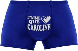 Les boxers pour hommes | J'aime que Caroline | Cadeau anniversaire unique et drôle. Article de nouveauté. de la marque Herr Plavkin image 0 produit