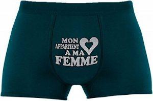 Les boxers pour hommes | Mon cœur appartient à ma femme | Cadeau anniversaire unique et drôle. Article de nouveauté. de la marque Herr Plavkin image 0 produit