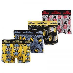les minions Boxers - Caleçons homme lot de 4 de la marque les minions image 0 produit