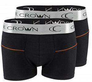 """Lot de 2 Boxer pour hommes - original """"Clark Crown®"""" - Boxershorts Boxer Hipster, noir avec rayures colorées de la marque Clark Crown® image 0 produit"""
