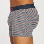 Lot de 2 boxers Levi's en coton stretch bleu marine et à rayures bleu marine, bleu indigo, blanches, rouges de la marque Levi's image 2 produit