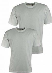 Lot de 2 maillots de corps manches courtes en coton couleur: blanc, tailles: S/48 - XXL/56 de Hajo de la marque Hajo image 0 produit