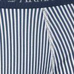 Lot de 3 boxers Emporio Armani en coton bleu marine, bleu ciel et à rayures bleu marine et blanches de la marque Emporio Armani image 4 produit