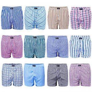 Lot de 6/12 - L&K Boxers pour homme Caleçons Différentes couleurs au choix 95 % coton 1403 de la marque LK image 0 produit