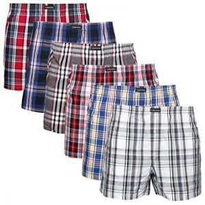 Lower East Lot de 6 boxers américains pour hommes à ouverture à l'avant dans différentes couleurs de la marque Lower East image 0 produit