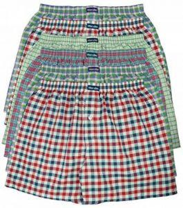 MioRalini - Pack de 6 boxers pour Homme - 100% Coton - Motifs à carreaux de la marque MioRalini image 0 produit