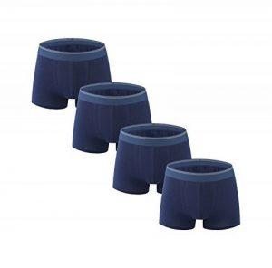 Nuofengkudu Homme 4 Pack Boxers Caleçons Nouveauté Shorts Sous-vêtements Doux Coton Stretch Grande Taille S,M,L,XL,2XL,3XL,4XL,5XL de la marque Nuofengkudu image 0 produit