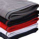 Nuofengkudu Homme 4 Pack Boxers Caleçons Sous-vêtements Confortable Respirant Elasticité Grande Taille S,M,L,XL,2XL,3XL,4XL,5XL de la marque Nuofengkudu image 4 produit