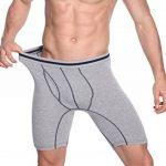 Nuofengkudu Hommes Lot Pack de 3 et 4 Boxers Caleçons Brief Long Doux Coton Stretch Sports Sous-vêtements Culotte Underpants S M L XL XXL de la marque Nuofengkudu image 1 produit