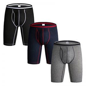 Nuofengkudu Hommes Lot Pack de 3 et 4 Boxers Caleçons Brief Long Doux Coton Stretch Sports Sous-vêtements Culotte Underpants S M L XL XXL de la marque Nuofengkudu image 0 produit