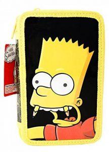 Original, officiel autorisé Simpsons fourre-tout étui à crayons 2 couches rempli de trousses de la marque Simpsons image 0 produit