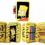 Original, officiel autorisé Simpsons fourre-tout étui à crayons 2 couches rempli de trousses de la marque Simpsons image 1 produit