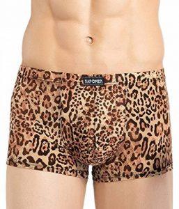 Panegy - Boxer Homme Caleçon Culottes en Modal Respirant Elastique - Sexy Sous-Vêtements Slip Imprimé à Leopard - Taille L-XXXL - Jaune/Blanc de la marque Panegy image 0 produit