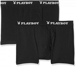 Playboy 40H040, Boxer Homme, Noir (Noir/Noir), X-Large (Taille Fabricant: XL) (lot de 2) de la marque Playboy image 0 produit