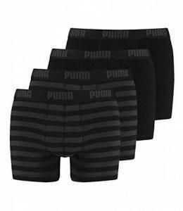 PUMA Homme rayé 1515 Boxer Court Sous-vêtements 4 Lot - Noir, L de la marque Puma image 0 produit
