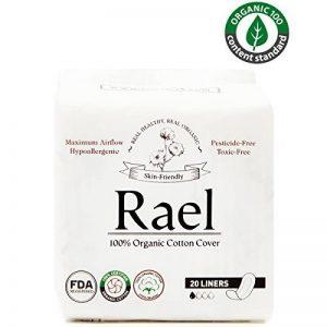 Rael 100% coton bio Regular unités–non parfumées Protections hygiéniques–Naturelle protège-slips Quotidiennes de la marque Rael image 0 produit