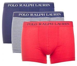 Ralph Lauren - Lot de trois boxers pour hommes Polo Ralph Lauren Classic Trunk 3 Pack Marine / Anglais Vert / B Po de la marque Polo Ralph Lauren image 0 produit