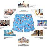 sankill Shorts de plage à séchage rapide pour les hommes Flamingo et ananas Graphique de la marque sankill image 4 produit