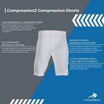 Short Compression CompressionZ - Pour homme Sous-pull Boxer Slips - Meilleur pour Athlétisme, Cyclisme, Basketball de la marque CompressionZ image 2 produit