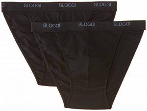 Sloggi - Basic Tanga - Slip - Uni - Lot de 2 - Homme de la marque Sloggi image 0 produit