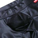 TiaoBug Boxer Homme Slip Shorts en Cuir Verni Ouvert Sous-vêtements Respirant Caleçon Collant Lingerie avec Bulge Poche Charmes Noir S-L de la marque Tiaobug image 3 produit