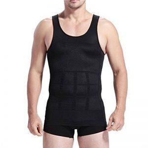 Tiaobug Homme Débardeur Gainant T-shirt Amincissante sans Manche Ventre Plat Musculation Homme Maillot de corps S-XXL de la marque Tiaobug image 0 produit