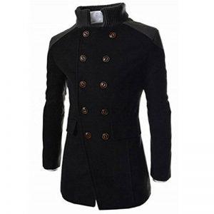 Toamen Hommes Manteau longue Chaud Faux Laine Veste Pardessus Hiver Mode (Noir, M) de la marque Taomen image 0 produit