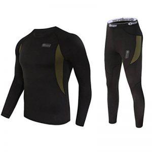 Uniquebella Ensemble de Sous-Vêtement Thermique Homme Maillot manches longues + Pantalon de la marque UNIQUEBELLA image 0 produit