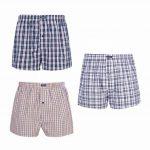 VANEVER Boxer Homme Coton 100% Americain Style Multicolore Caleçons Underwear Bouton Fly (lot de 3) de la marque VANEVER image 4 produit