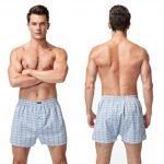 VANEVER Boxer Homme Coton 100% Americain Style Multicolore Caleçons Underwear Bouton Fly (lot de 3) de la marque VANEVER image 1 produit