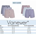 VANEVER Boxer Homme Coton 100% Americain Style Multicolore Caleçons Underwear Bouton Fly (lot de 3) de la marque VANEVER image 2 produit