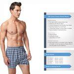 VANEVER Boxer Homme Coton 100% Americain Style Multicolore Caleçons Underwear Bouton Fly (lot de 3) de la marque VANEVER image 3 produit