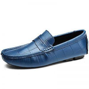 Vilocy Hommes Décontractée Conduite Bateau Chaussures Carré dans le Doux Cuir Caleçon Sur Flâneurs Mocassins de la marque Vilocy image 0 produit
