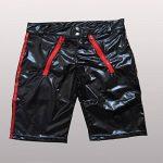 Wolfleague Lingerie SéDuisante Sexy Hommes Ouvert Entrejambe Body Shorts Cuir Artificiel Slip Grande Taille Noir S ~ 3XL de la marque Wolfleague image 2 produit