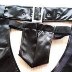Wolfleague Slip String Sexy Homme Ouvert Entrejambe Cuir Artificiel Lingerie Sexy SéDuisante Bodysuit Bulge Pouch Slips Underpants de la marque Wolfleague image 3 produit