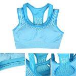 Yolev Soutien-gorge de Sport Rembourré Brassière sans Armature Femme pour Yoga Courir Fitness Running de la marque Yolev image 4 produit
