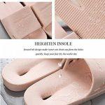 ZHShiny Femmes Chaussons Douches Pantoufles Salle de Bains Chaussures Intérieur Confortable Sandales Pour Hommes Bain Été Non-Slip Gym à la Maison Pantoufle de la marque ZHShiny image 1 produit