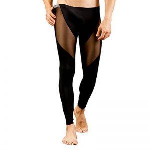 ZKOO Sous-vêtement Homme Mince Transparent Leggings Pantalon de Thermique Taille Basse Collant Caleçons Longs de la marque ZKOO image 0 produit