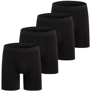 ZLYC Mens Long Box Slip Sous-vêtements en coton, 3/4 Pack de la marque ZLYC image 0 produit