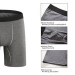 ZLYC Mens Long Box Slip Sous-vêtements en coton, 3/4 Pack de la marque ZLYC image 1 produit